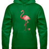 Green Flamingo Hoodie For a Good Cause